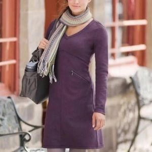 Athleta Dark Purple Ponte Celebration Dress
